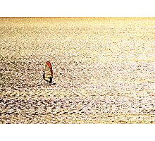 Sailing on a Silver Sea Photographic Print