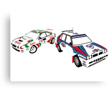 Sega Rally Tribute - Lancia vs Toyota Canvas Print