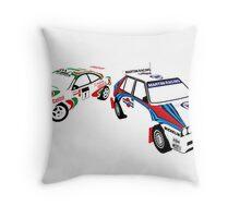 Sega Rally Tribute - Lancia vs Toyota Throw Pillow