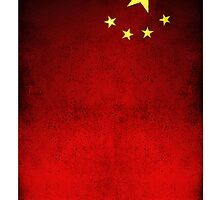 Chinese Flag iPhone Case by Ruo7in