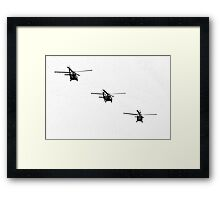 Tricopters Framed Print