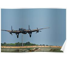 Lancaster Flying over Fieseler Poster