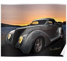 Custom 37 Ford Pickup Sundown in the wilds of the Texas Hill Country Poster