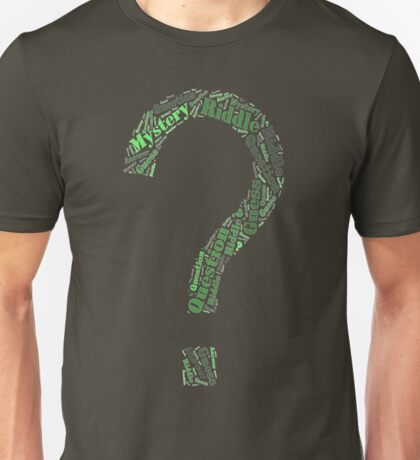 Riddler Wordart Unisex T-Shirt