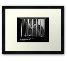 Think Occasionally - Stray Muses™ A Language Unspoken Framed Print