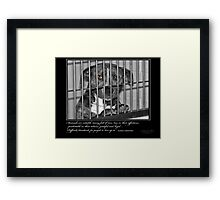 Difficult Standards - Stray Muses™ A Language Unspoken Framed Print