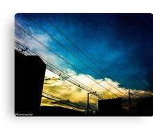 The road name BLUE... Canvas Print
