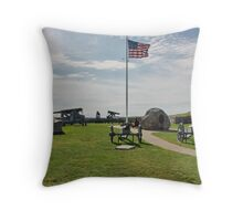 Old Cannons of Wars Throw Pillow
