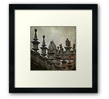 Watching the town Framed Print