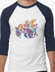 Purple Koi  Men's Baseball ¾ T-Shirt