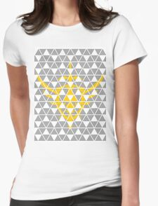 Zelda Tri-force  Womens Fitted T-Shirt