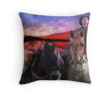 Back Country Packer Throw Pillow