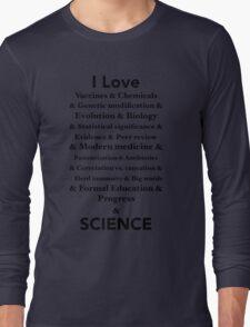 I Love Science Long Sleeve T-Shirt