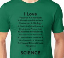I Love Science Unisex T-Shirt