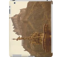 Edinburgh Castle & Fountain - landscape style iPad Case/Skin