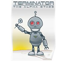 Terminator Alpha White Poster
