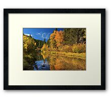 Autumn Along The Susan River Framed Print