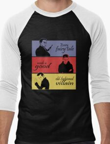 Villains of SuperWhoLock Men's Baseball ¾ T-Shirt