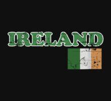 Ireland Vintage Flag St Patricks Day Kids Tee