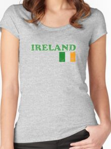 Ireland Vintage Flag St Patricks Day Women's Fitted Scoop T-Shirt