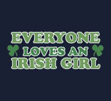 Green Everyone Loves An Irish Girl St Patricks Kids Clothes