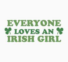 Green Everyone Loves An Irish Girl St Patricks Kids Clothes