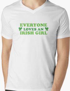 Green Everyone Loves An Irish Girl St Patricks Mens V-Neck T-Shirt