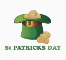 St Patricks Day Gold Hat Kids Clothes