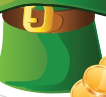 St Patricks Day Gold Hat Sticker