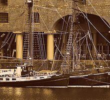 Sailing Ships Snowbird & Zebu. by Stan Owen
