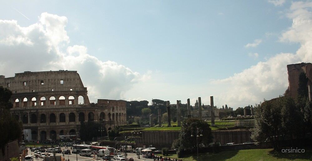 Rome, the Colosseum by orsinico