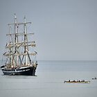 Tall Ship At Lyme by lynn carter