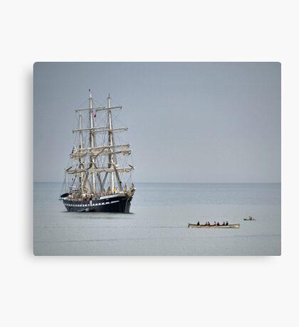Tall Ship At Lyme Canvas Print
