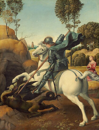 Raphael - Saint George and the Dragon by TilenHrovatic