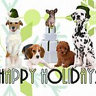 Holiday Dogs - Card by Doreen Erhardt
