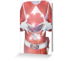 Red Ranger Poster Greeting Card