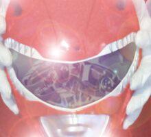 Red Ranger Poster Sticker
