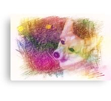 She is so gentle Canvas Print