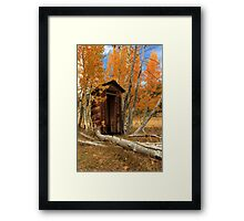 Outhouse In The Aspens Framed Print