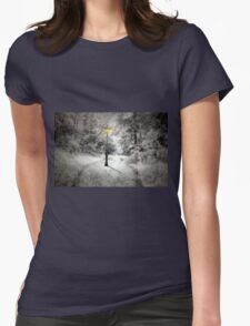This way to Narnia Womens Fitted T-Shirt