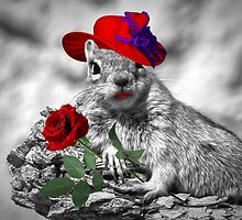 Red Hatter Squirrel by Doreen Erhardt