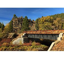 Susan River Bridge On The Bizz Photographic Print