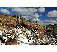 Winter On The Bizz Johnson Trail Photographic Print