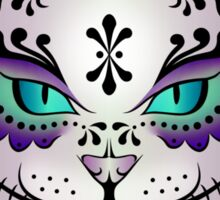 Sugar Skull Kitty - Purple sticker Sticker