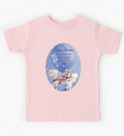 ☀ ツHAPPY BIRTHDAY CHILD TEE SHIRT WITH SCRIPTURE☀ ツ Kids Tee