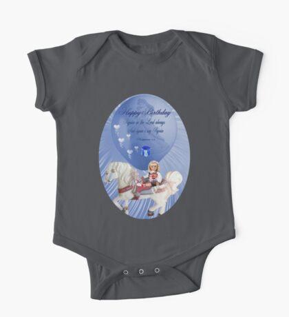 ☀ ツHAPPY BIRTHDAY CHILD TEE SHIRT WITH SCRIPTURE☀ ツ One Piece - Short Sleeve