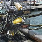 Lobster Traps on The Dock by Margie Avellino