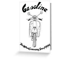 GASOLINE PX VESPA LINE ART DESIGN Greeting Card