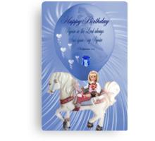 ☀ ツCHILDREN BIRTHDAY CARD/PICTURE WITH SCRIPTURE☀ ツ Canvas Print