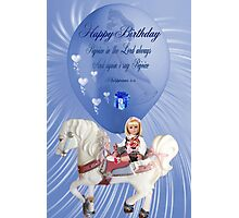 ☀ ツCHILDREN BIRTHDAY CARD/PICTURE WITH SCRIPTURE☀ ツ Photographic Print